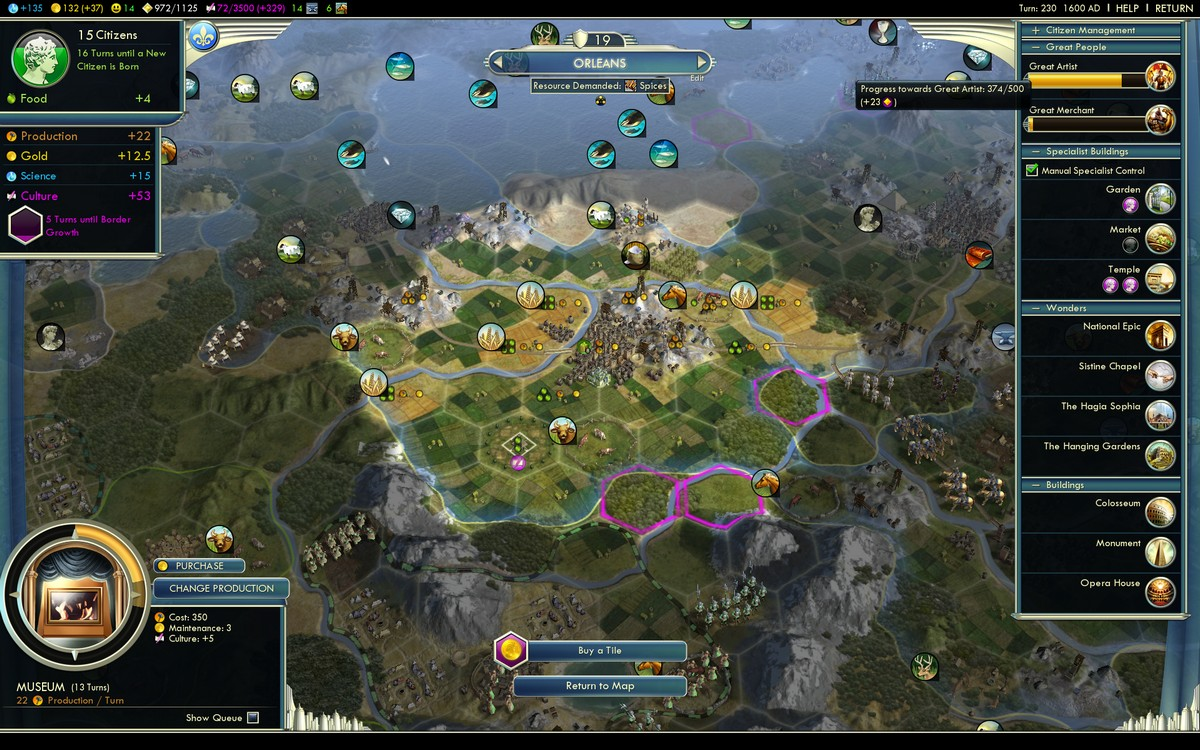 civ 5 how to have tiles show resources